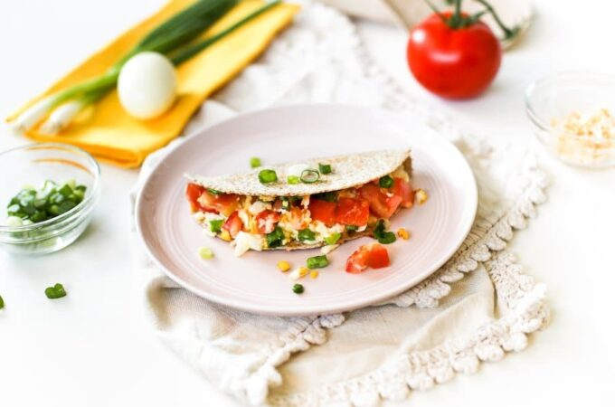 Freezer-Friendly Hard Boiled Egg Quesadilla // Salty Canary