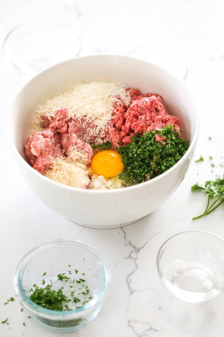 Freezer Friendly Meatballs Ingredients // Salty Canary