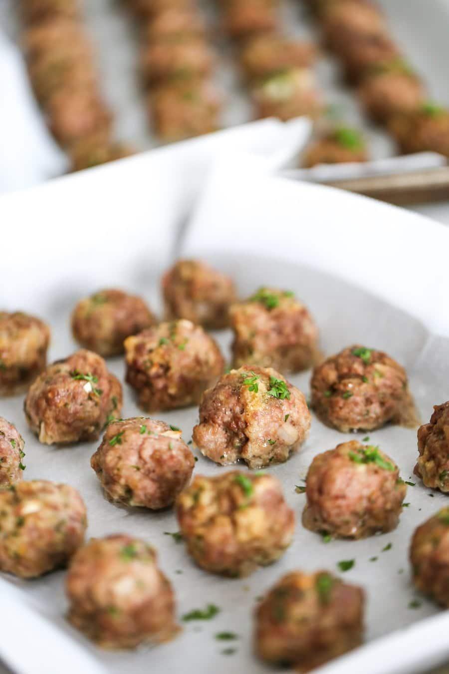 Freezer Friendly Meatballs // Salty Canary