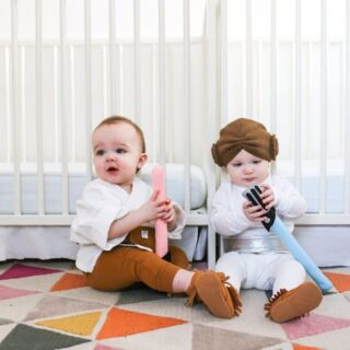 Twin Baby Luke & Leia Halloween Costumes // Salty Canary