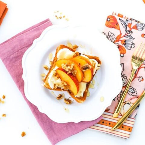 Peach and Mascarpone Toast