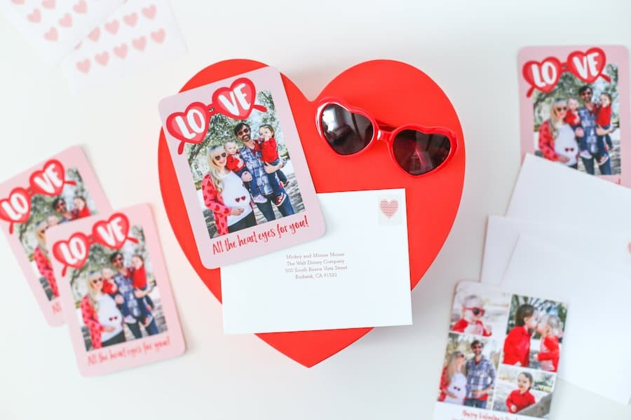 heart eyes valentine's day cards