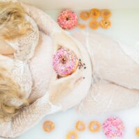 My Donuts & Milk Bath Maternity Photos