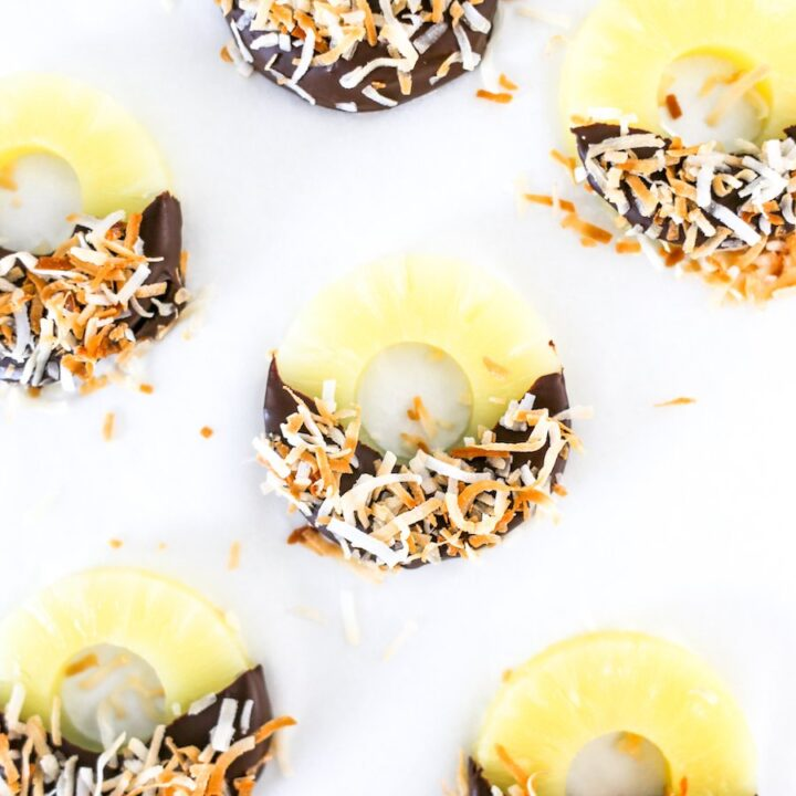 Chocolate Coconut Pineapple Rings