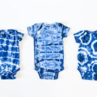 How to Shibori Dye Baby Onesies