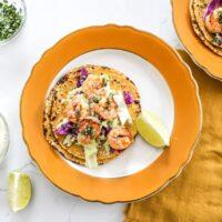 Grilled Shrimp Tacos with Avocado Crema Recipe